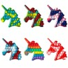 Jucarie senzoriala antistres pentru copii, Pop It Now, Unicorn Multicolor
