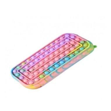 Jucarie senzoriala antistres, penar de scoala pentru copii, Pop It Now and Flip It, Macarons, POP53606, multicolor