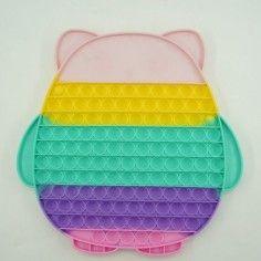 Jucarie senzoriala antistres pentru copii, Pop It Now, Bufnita Uriasa, Multicolor