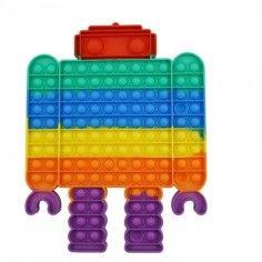 Jucarie senzoriala antistres pentru copii, Pop It Now, Robot Urias, Multicolor, Model 3