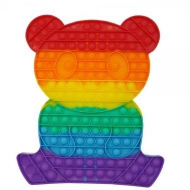 Jucarie senzoriala antistres pentru copii, Pop It Now, Ursulet Urias, Multicolor, POP21872