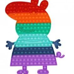 Jucarie senzoriala antistres pentru copii, Pop It Now, Purcelus Urias, Multicolor, POP20509