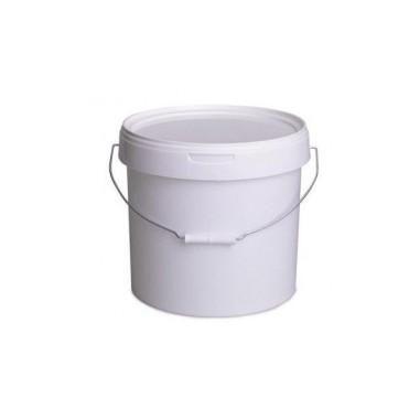 Galeata alimentara sigilabila, cu capac, 12 litri, alb