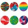 Jucarie senzoriala antistres pentru copii, Pop It Now, Rotund Multicolor